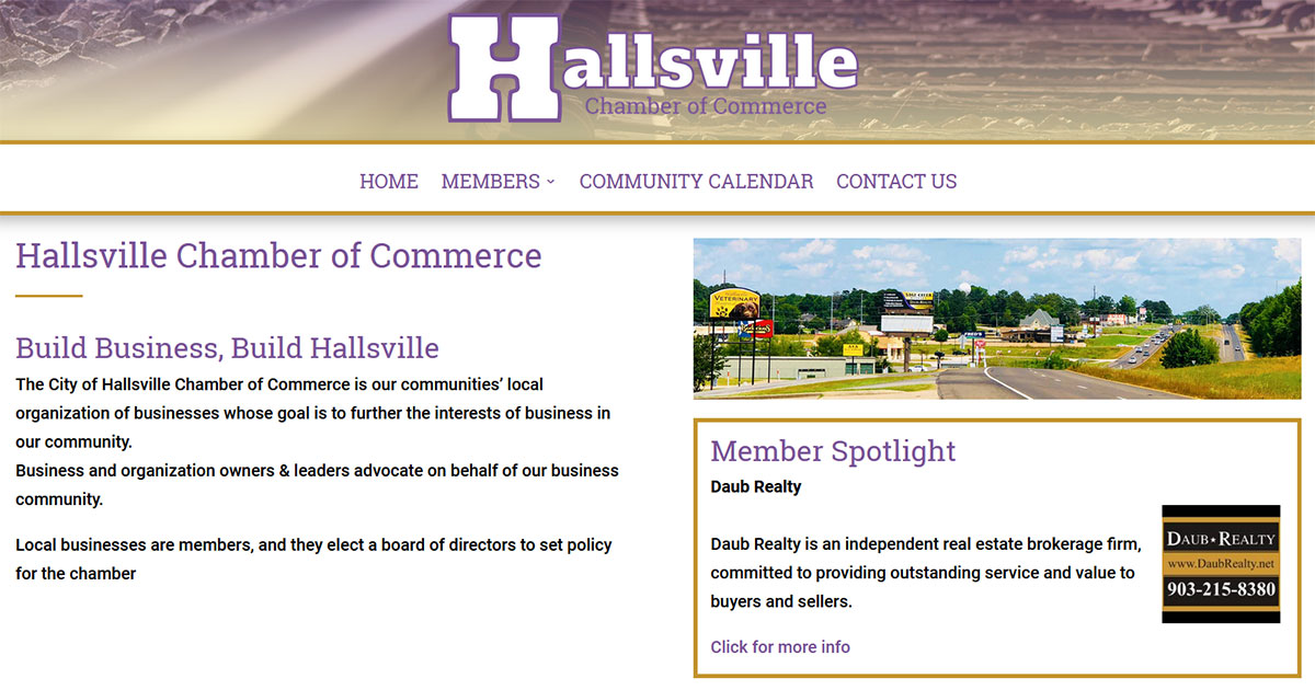 Hallsville Chamber of Commerce - Hallsville, TX